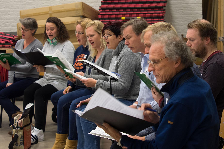 Repetitie in Werkplaats Diepenheim - foto: Ton Besling