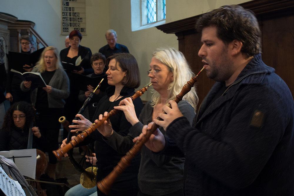 Uitvoering in de Johanneskerk in Diepenheim - foto: Ton Besling